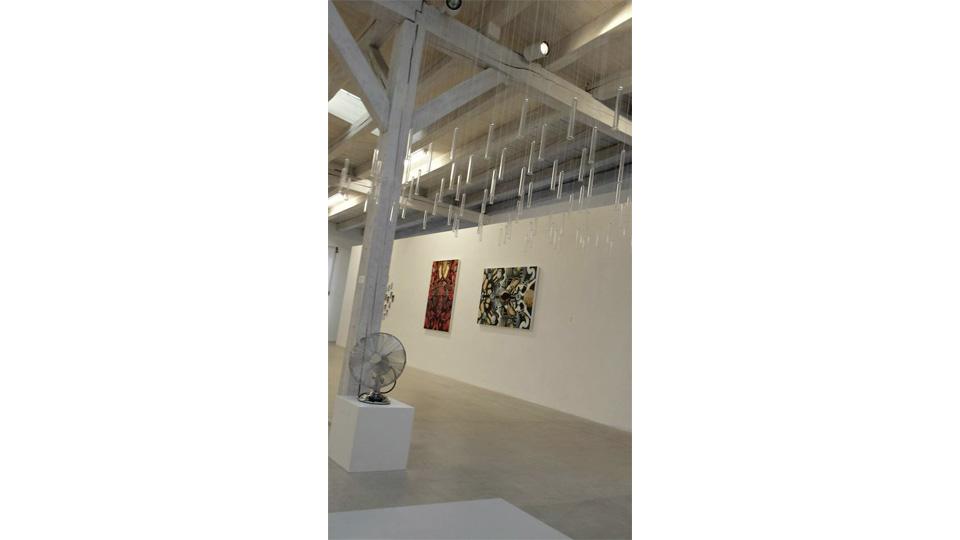 Hallen-Abteil Kunstwerke von Matthis und Birkenmeier
